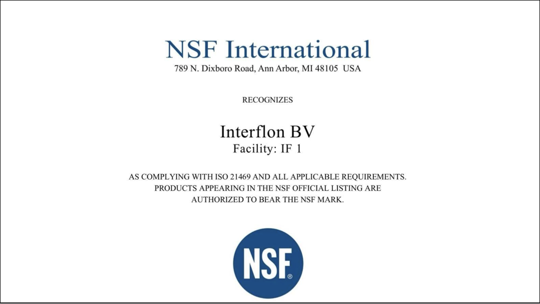 Interflon newsarticle ISO certified lubricants