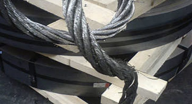 Zinc coated wire ropes