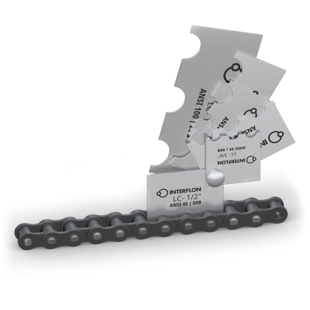 Interflon Chain Pitch Gauge Handy tool to instantly determine the pitch of a roller chain