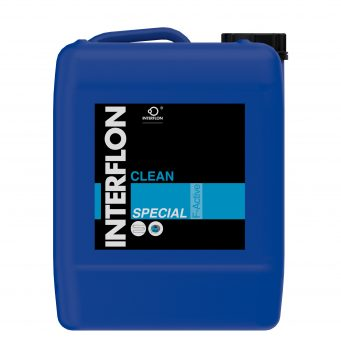 Interflon clean special powerful readily biodegradable acid cleaner for use in workshop and industry