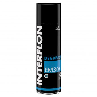 Interflon degreaser em30+ aerosol food grade high yield multi-purpose degreaser aerosol