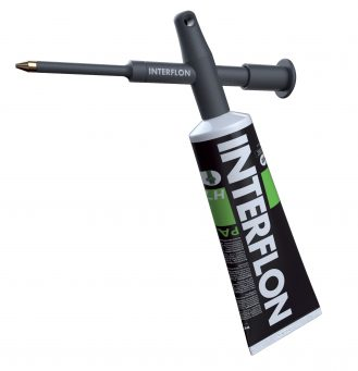 Interflon tube dispenser one-hand operated precision grease and paste dispenser